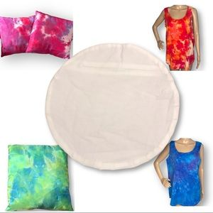 Custom tie dye immersion dye round pillow cover